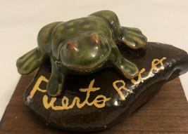 Frog Statue Garden vintage Sculpture Decor Figurine Sitting Stone .puert... - £11.26 GBP