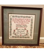 1997 Lovely Cross Stitch Sampler Finished Professionally Matted & Framed - $75.00