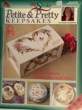 Plaid one stroke petite & pretty keepsakes by donna dewberry book - $10.42
