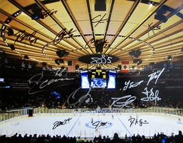2015 N.Y. Rangers Team Autographed 16X20 Hockey Photo COA Stanley Cup Lundqvist - $275.00