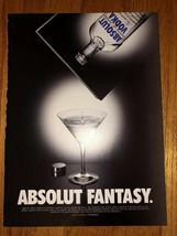 Absolut Fantasy Original Magazine Ad - $2.49