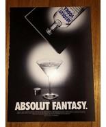 Absolut Fantasy Original Magazine Ad - $2.49