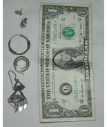 Misto Lotto di 925 Argento Sterling Singolo Orecchini 8.5 Grammi Totale ... - $21.29