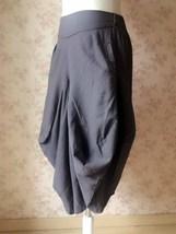 Women Gray LINEN PANTS Wide leg Linen Cotton pants Casual Cozy Pants Harem Pants image 4