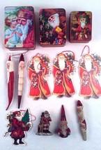 Folk Art Old World Victorian Santas Ornaments Christmas Figurines Boxes ... - $24.74
