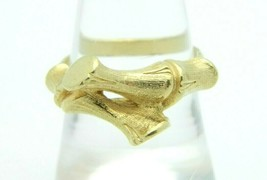 1973 SARAH COVentry Bamboo Gold Tone Vintage Ring Size 7.75 - $19.79