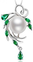 Sterling Silver Wreshwater Cultured White Pearl Pendant Necklace - $99.23