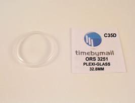 For ORIS 3251 Plexi-Glass Watch Crystal 32.8mm Replacement New Spare Part C35D - $18.58