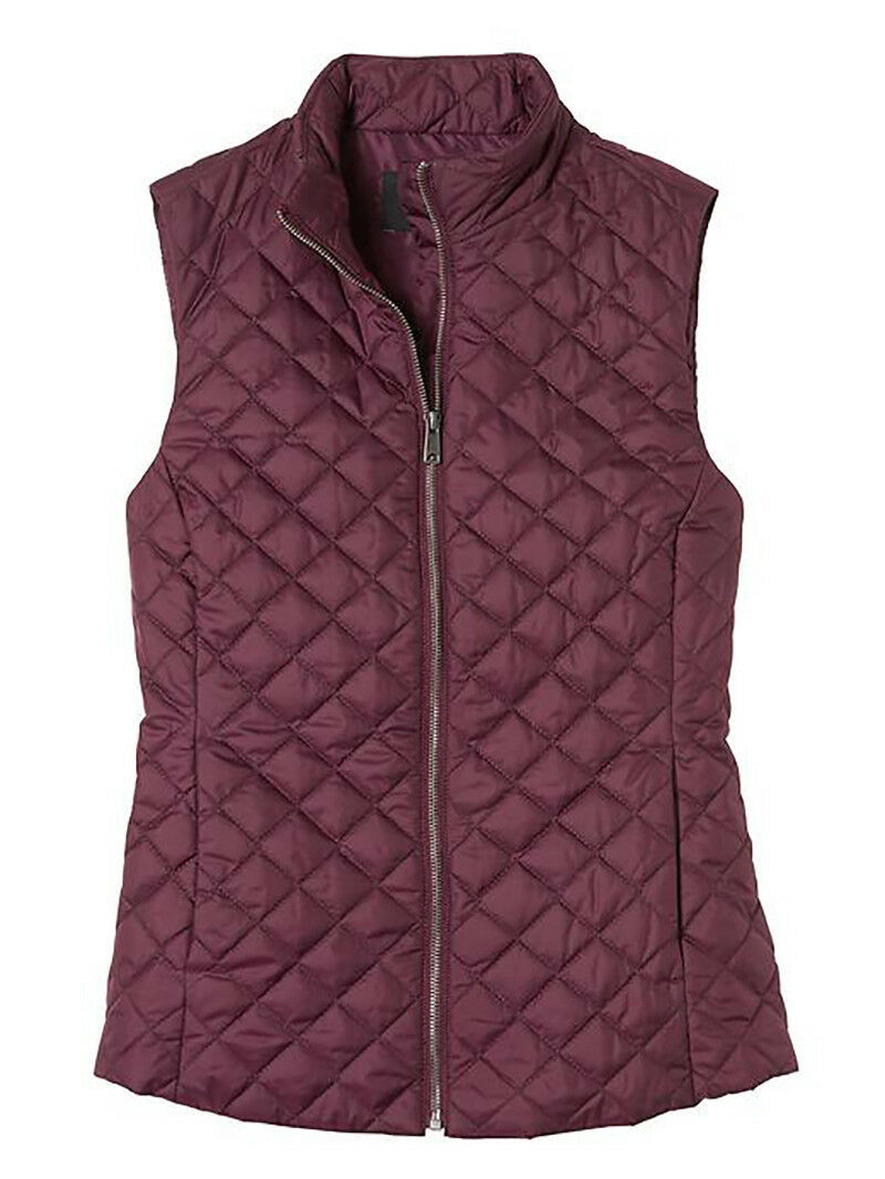 7199-2 Banana Republic Womens Quilted Vest Elderberry Large $79.99 image 3