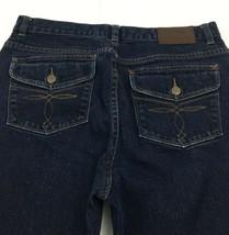 LRL Lauren Jeans Co Ralph Denim Classic Bootcut Button Flap Pocket Womens 8 - $19.75