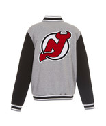 NHL New Jersey Devils Reversible Full Snap Fleece Jacket JH Design Gray Black - $119.99