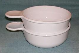 CORNING WARE PYREX WHITE GRAB IT Bowl P-150-B  No Lids - Set 2- EUC - $10.95