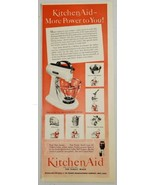1949 Print Ad Kitchen Aid Model 3-B Mixers Hobart Manufacturing Co. Mans... - $14.83