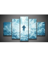 5 panel printed group canvas painting Jesus is coming canvas print art Modern Ho - $59.00