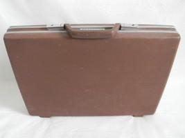 "Vintage Samsonite 2.75"" Slim Brown Briefcase (No Key) - $29.99"