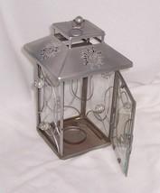 PartyLite Sun Garden Lantern Antiqued Aluminium Sun Design P9280 - $13.81