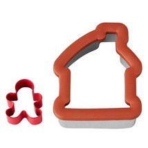 2 Pc Gingerbread House and Boy Comfort Grip Cookie Cutter Wilton Christmas - $5.49