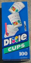 Vintage Dixie Cups Kitchen Bathroom 100 Count 5 Oz Home Sweet Home New - $19.99