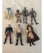 Star Wars Action Figure Lot 7 Figures From The 90s to early 2000s - $17.81