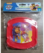 NEW Paw Patrol Red Holographic Reusable Bread Shaped Sandwich Saver Cont... - $5.99