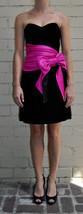 Betsey Johnson Strapless Cocktail Dress Ribbon Black 2 Womens - $29.66