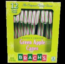 Brach's Santa's Choice Green Apple Candy Canes 12 Count - $8.83