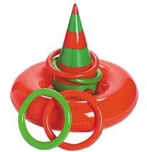 """Inflatable Elf Hat Ring Toss Game. Vinyl. (5 pcs. per set). 20"""" x 24"""" diam. - $10.39"""