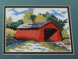 Covered Bridge Cross Stitch Pattern Chart 1989 Maureen Doherty Designs N... - $7.43