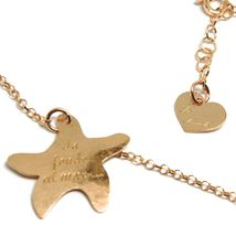 Long Necklace 70 cm, 925 Silver, Pendant Mermaid, Stars Marine, le Favole image 4
