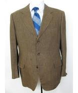 CELINE Homme 100% Linen Brown Blazer 38 R Italy 48R Men Sports Coat Jack... - $167.26