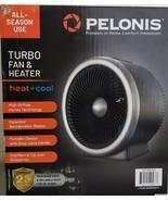 Pelonis Turbo Fan & Heater Heat + Cool Black PSF10M6ASB - $23.56