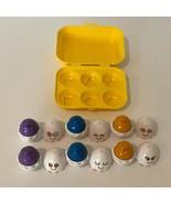 Tomy Hide N Squeak Egg Shape Sorting Toy 1993 Vintage Egg Carton Yellow - $14.99
