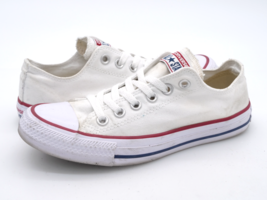 Converse Womens 7 White CTAS Lace Up Low Top Athletic Sneaker Shoes W7652 - $27.99
