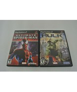Ultimate Spider-Man + Incredible Hulk (Playstation 2) Lot of 2 PS2 Video... - $21.28