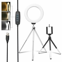 6inch LED Selfie Ring Light Photo Studio Make Up Camera Video Light With... - $18.88+