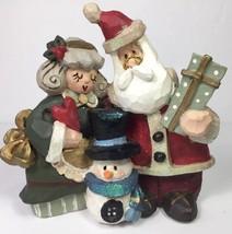 Snowtown Snowfolk Santa Mrs Claus Snowman Present Heart Figurine Kurt S ... - $22.27