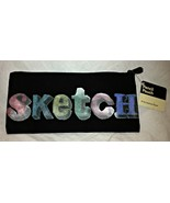 Punctuate Black and Multi Colored Sketch Pencil Pouch - $6.99