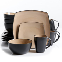 Soho Lounge 16 pc Dinnerware, Taupe Square Shape (Service for 4) - $92.98