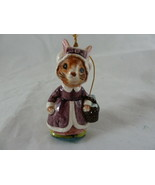 "Vintage Beatrix Potter Christmas Ornament Figurine Made In Japan 2 3/4"" ... - $7.91"