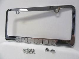 2002-2010 Hummer Chrome Engraved Metal License Plate Frame With Logo Scr... - $18.99
