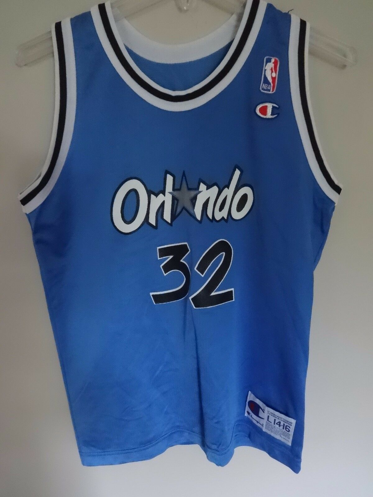 Primary image for Vintage 1990's Champion Orlando Magic Shaquille O'Neal # 32 Jersey Youth L 14/16