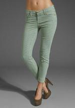 NWT$198 Current/Elliott Quartermaster Stripe Cropped Jeans Seaglass  23 ... - $79.99