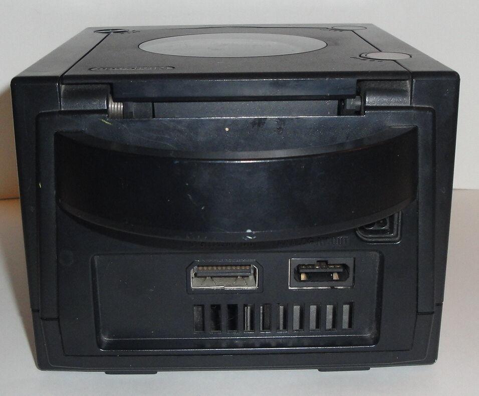 BLACK GAMECUBE CONSOLE BUNDLE Working Cords Lot Nintendo Set Unit DOL-001 USA