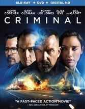 Criminal (2016) (Blu Ray/DVD W/Digital Uv) (Ws/Eng/Eng Sub/Span Sub/5.1Dd)