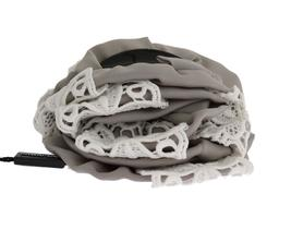 Gray Silk White Lace Hair Claw - $207.50