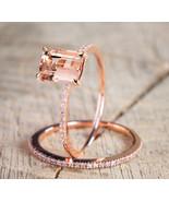 Best Selling Rose Gold color wedding ring set for women Engagement brand... - $17.99