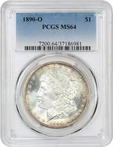 1890-O $1 PCGS MS64 - Rim Toning - Morgan Silver Dollar - $281.30