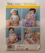 Simplicity 1378 Size xs-l Babies' Sundress Panties Rompers Hat Barefoot ... - $11.64