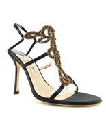 JIMMY CHOO Size 9 PARIS Green Crystal Choker Heels Sandals Shoes 39.5 Eur - $389.00