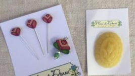 ACCESSORY PACK for Working In The Garden Sewing Box chart Mani di Donna  - $18.00